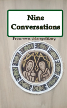 The front book cover of the Nine Conversations.